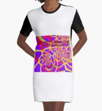 The Journey of a Thousand Miles Graphic T-Shirt Dress