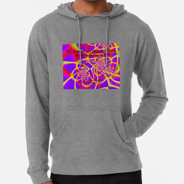 The Journey of a Thousand Miles Lightweight Hoodie
