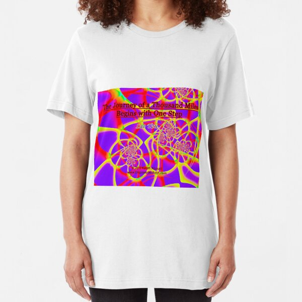 The Journey of a Thousand Miles Slim Fit T-Shirt