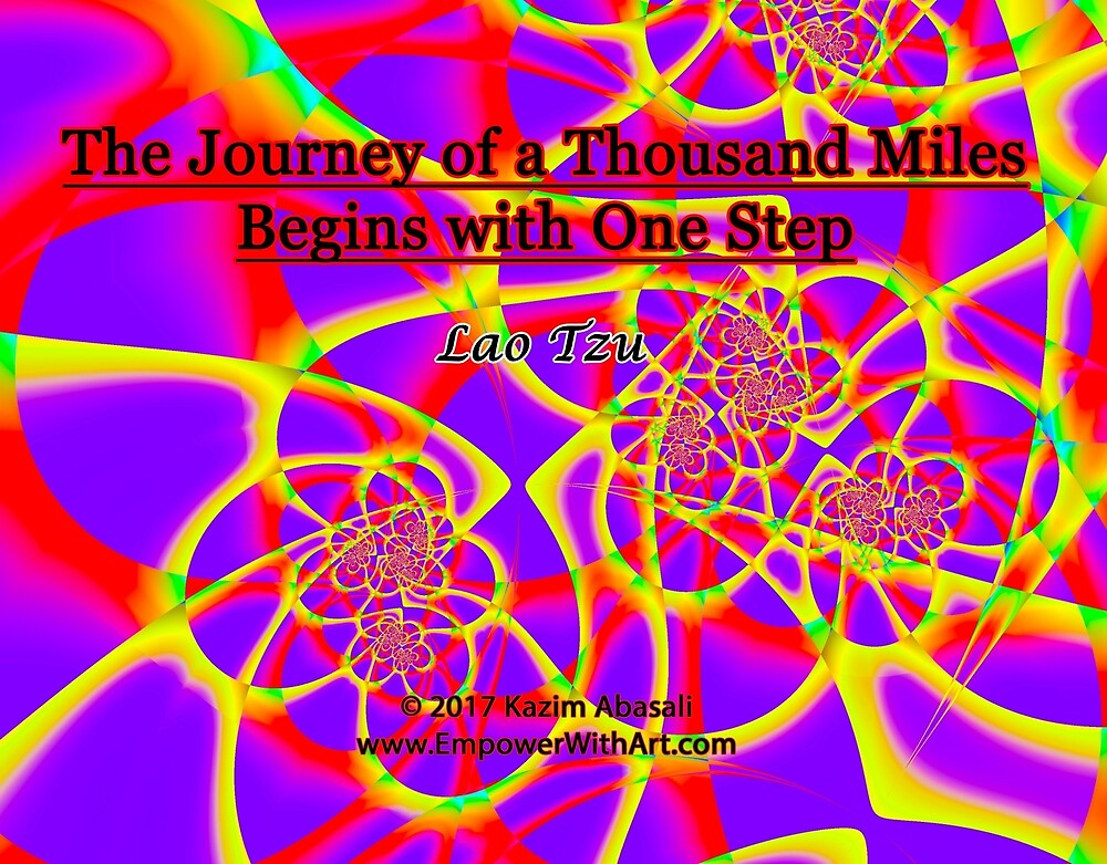 The Journey of a Thousand Miles by empowerwithart