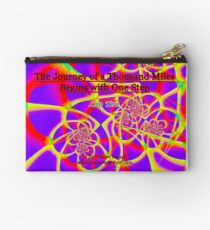 The Journey of a Thousand Miles Zipper Pouch