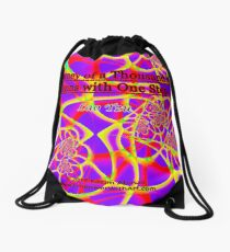 The Journey of a Thousand Miles Drawstring Bag