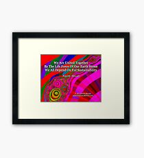 We Are United Framed Print