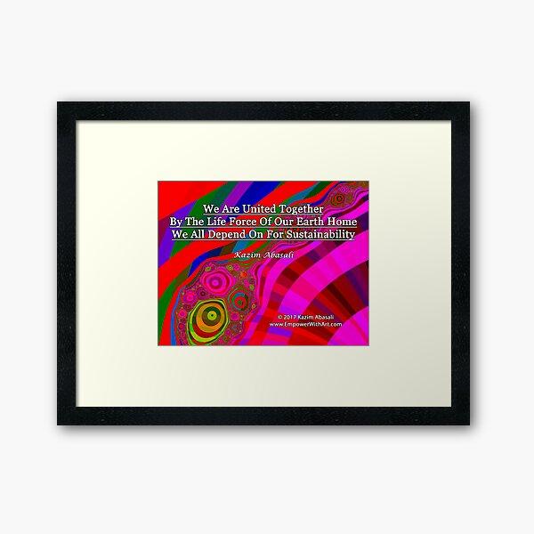 We Are United Framed Art Print