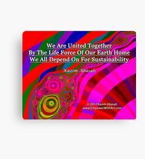 We Are United Canvas Print