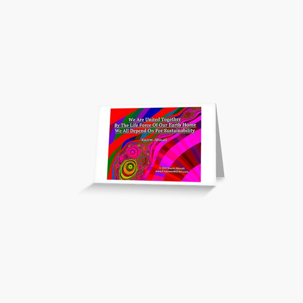 We Are United Greeting Card