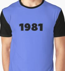 1981 Born in 1981 Birthday Made in 1981 My Vintage Kit Dream Vintage 1981 Born To Run Birthday Shirt Gift  Graphic T-Shirt