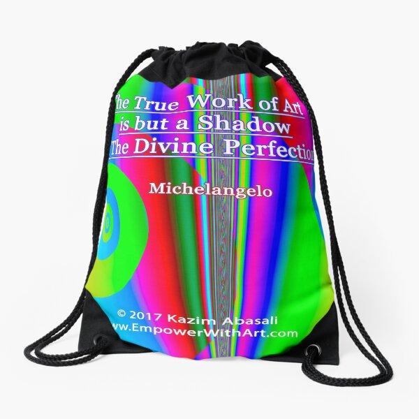 The True Work of Art Drawstring Bag