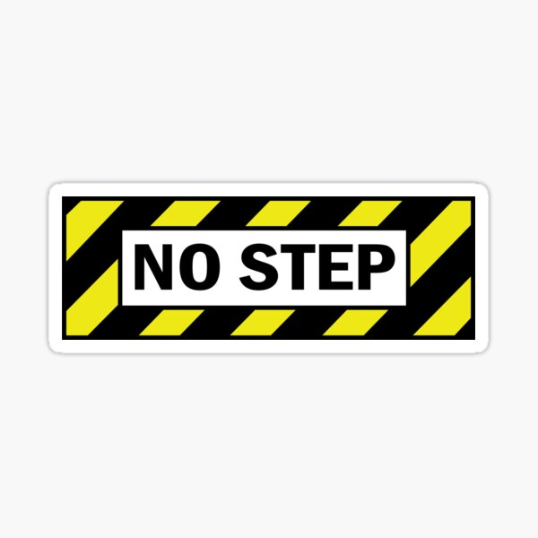 No Step Sticker