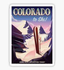 Colorado Ski print Sticker