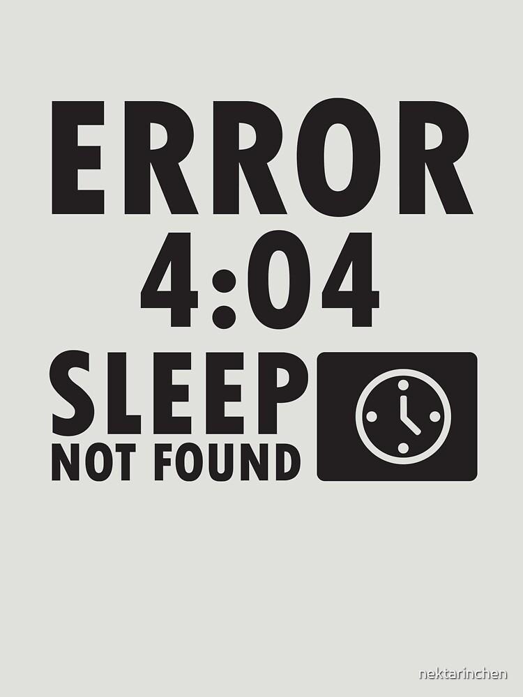 Error 4:04 - Sleep not found by nektarinchen