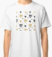 Brush stroked heart shapes pattern design! Classic T-Shirt