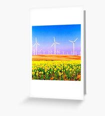 Girasoles Molinos 1 Greeting Card