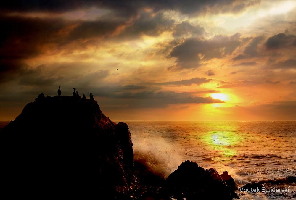 Sunset at Cormorant Rock by Voytek Swiderski