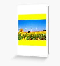 Girasoles Molinos 2 Greeting Card