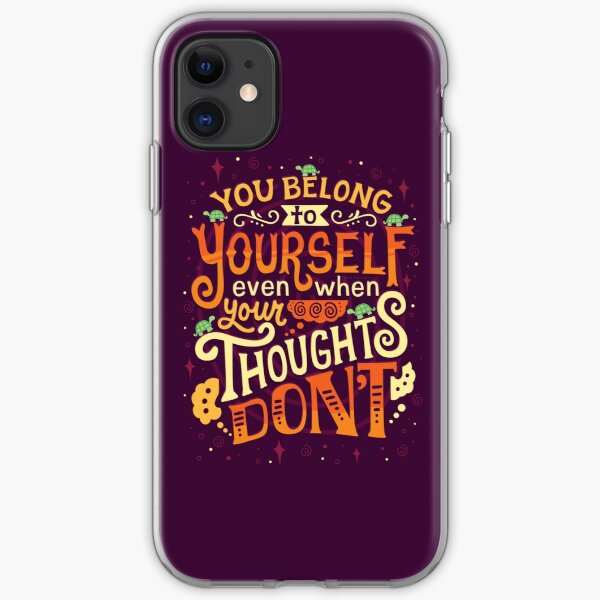 Thoughts are only thoughts iPhone Soft Case