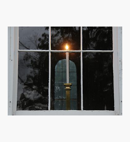 Window Candle Photographic Print