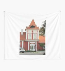 front view of castle eastern europe Wall Tapestry