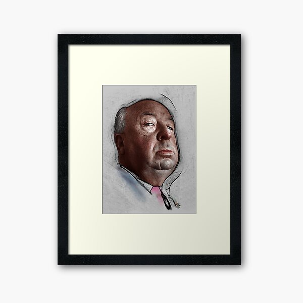 Alfred Hitchcock, Hollywood Director Framed Art Print