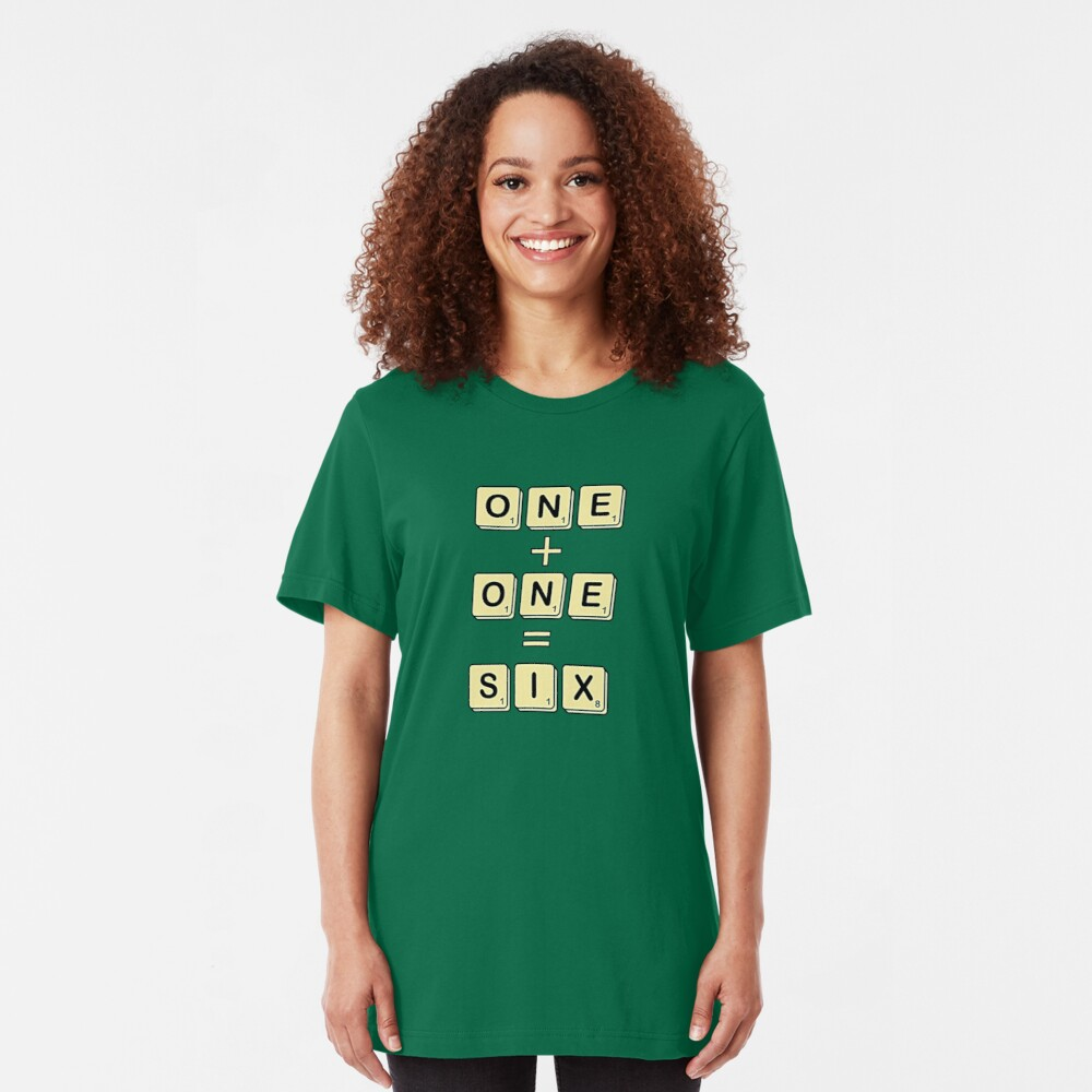 Scrabble Math Slim Fit T-Shirt