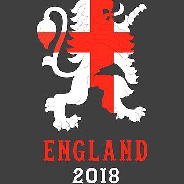 England 2018 - UK Soccer Team Shirt by crouchingpixel