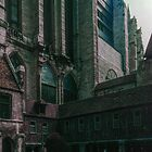 Cathedral Buttresses and cloister buildings C13 Beauvais Cathedral France 19840827 0041  by Fred Mitchell