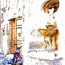 Fountain With Scooter by Giuseppe Cocco