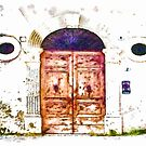 Antique Door With Oval Windows by Giuseppe Cocco