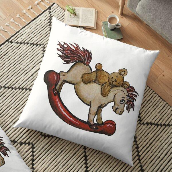 Ride 'Em Teddy Floor Pillow