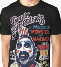 Captain Spaulding's Museum of Monsters and Madmen Graphic T-Shirt