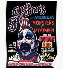 Captain Spaulding's Museum of Monsters and Madmen Poster