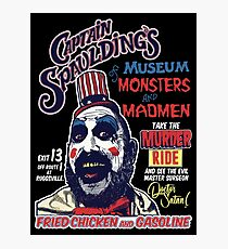 Captain Spaulding's Museum of Monsters and Madmen Photographic Print