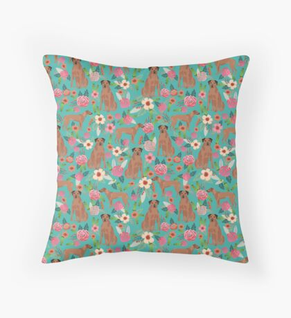 Rhodesian Ridgeback floral dog breed gifts pure breed must have dog pattern Floor Pillow