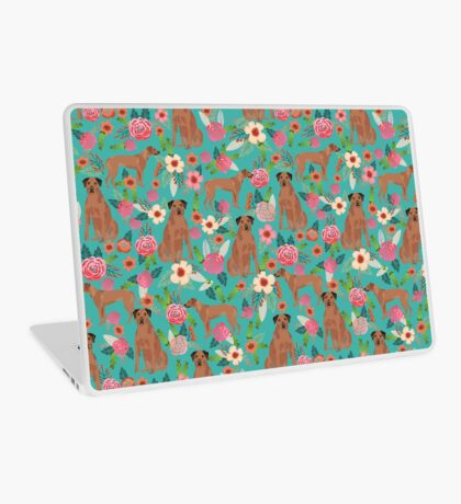 Rhodesian Ridgeback floral dog breed gifts pure breed must have dog pattern Laptop Skin
