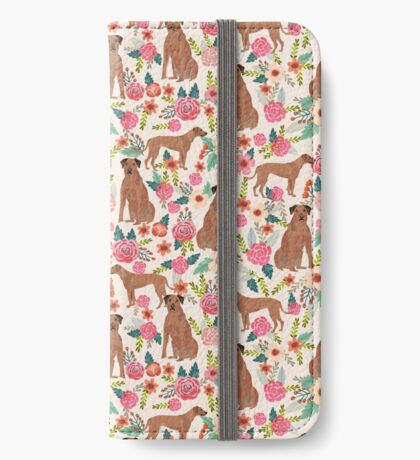 Rhodesian Ridgeback floral dog breed gifts pure breed must have dog pattern iPhone Wallet