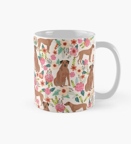 Rhodesian Ridgeback floral dog breed gifts pure breed must have dog pattern Mug