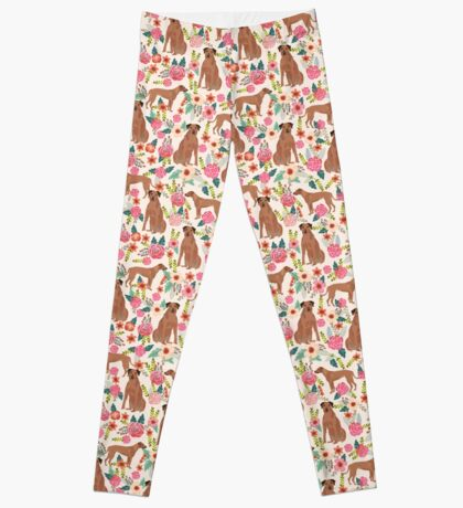 Rhodesian Ridgeback floral dog breed gifts pure breed must have dog pattern Leggings