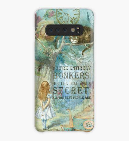 Wonderland - Bonkers Quote Funda/vinilo para Samsung Galaxy