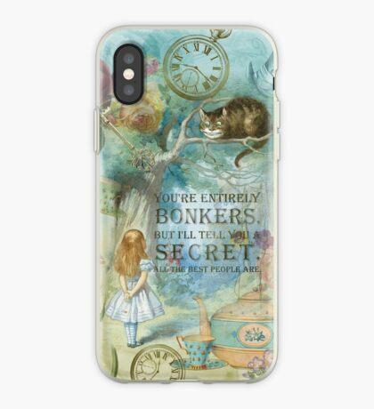 Wonderland - Bonkers Quote Vinilo o funda para iPhone