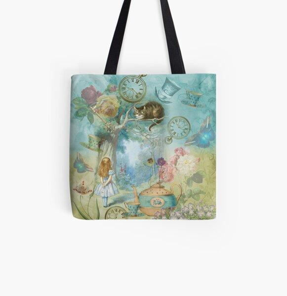 Wonderland All Over Print Tote Bag