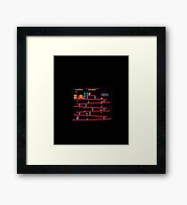 Donkey Kong - game Framed Print