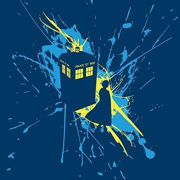 Thirteen TARDIS Splash  by thebatteryhuman