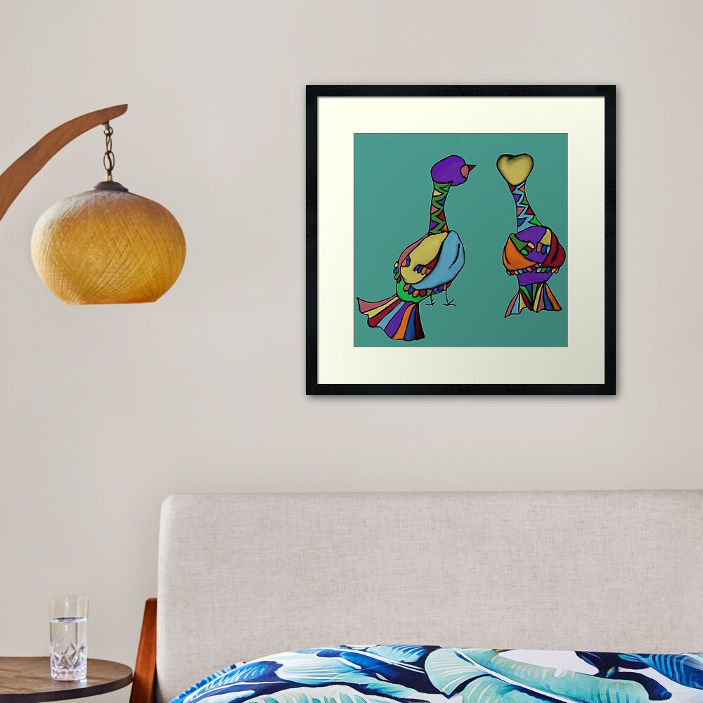 Thinking together Framed Art Print