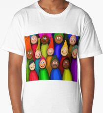Happy People Painting Long T-Shirt