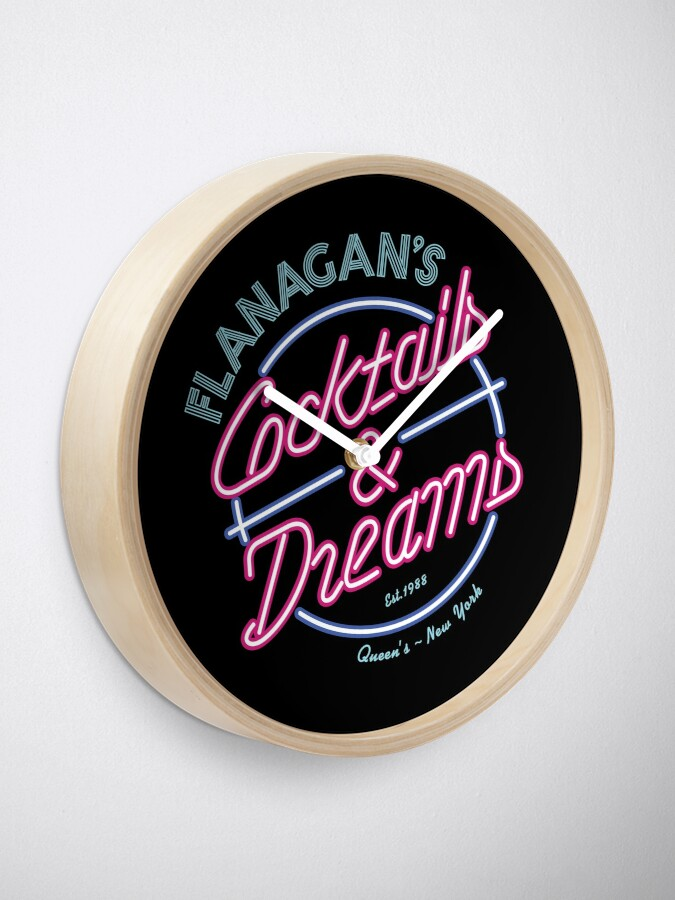 Alternate view of Flanagans - Cocktails & Dreams Clock