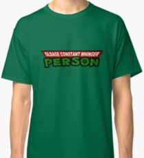 OLDAGE CONSTANT WHINGER PERSON - Moaning old man with Turtle Power  Classic T-Shirt