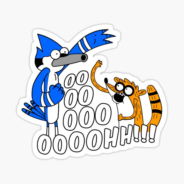 Rigby and Mordecai Sticker