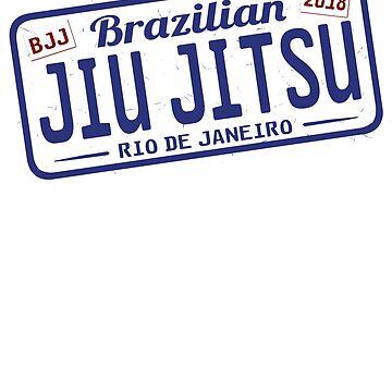 BRAZILIAN JIU JITSU - FUNNY JIU JITSU LICENSE PLATE by ShirtWreck