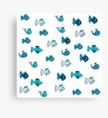 Cartoon Fish pattern design! Canvas Print