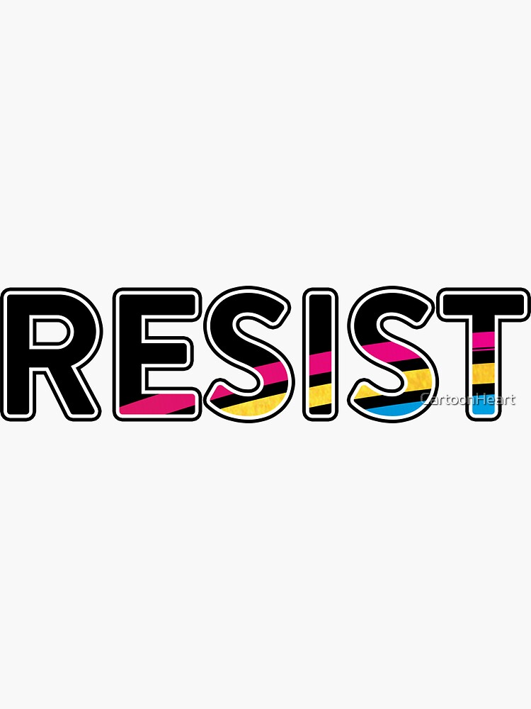 RESIST - Sticker by CartoonHeart
